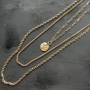 LUCKY BRAND - Multi Gold Chain Layer Necklace